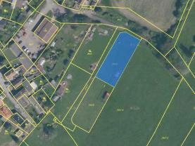Prodej, stavební parcela, 1339 m2, Radenín
