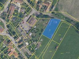 Prodej, stavební parcela, 1180 m2, Radenín