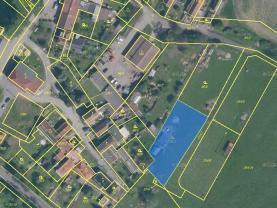 Prodej, stavební parcela, 1212 m2, Radenín
