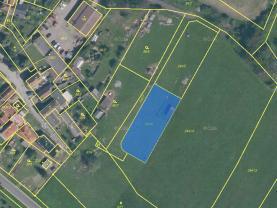 Prodej, stavební parcela, 1315 m2, Radenín