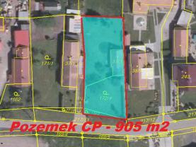 Prodej, pozemek, 905 m2, Staré Hradiště