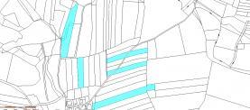 Prodej, zemědělské pozemky, 36 463 m2, Drunče