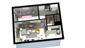 Pronájem, byt 2+kk, 45 m2, Benešov u Prahy