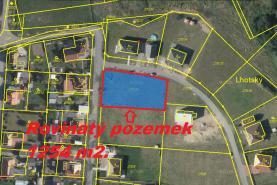 Prodej, pozemek, 1254 m2, Veliny