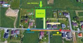 Prodej, stavební pozemek, 1416 m2, Dolní Lutyně