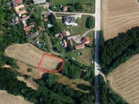 Prodej, stavební parcela, 1340 m2, Moraveč, Tábor