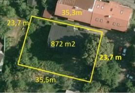 Prodej, stavební pozemek, 872 m2, Ostrava - Hranečník