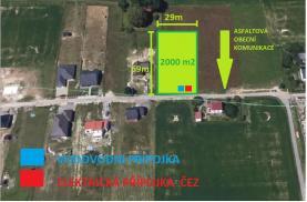 Prodej, stavební pozemek, 2000 m2, Žermanice