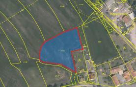 Prodej, stavební parcela, 3575 m2, Bučí