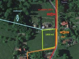 Prodej, stavení pozemek, 1800 m2, Oznice