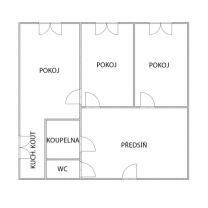 (Pronájem, byt 3+1, 96 m2, Aš, ul. Dukelská)