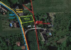 Prodej, stavební pozemek, 947 m2, Krhová