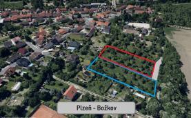 Prodej, stavební pozemek, 2660 m2, Plzeň - Božkov