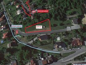 Prodej, stavební pozemek, 1209 m2, Vsetín