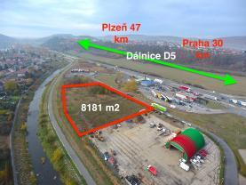 Prodej, komerční stavební pozemek, 8181 m2, Králův Dvůr, D5
