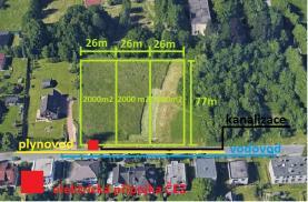 Prodej, stavební pozemek, 2000 m2, Ostrava - Radvanice