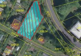 Prodej, pozemek, 387 m2, Doubí, Karlovy Vary
