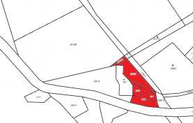 Prodej, stavební parcela, 1129 m2, Písařov