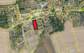 Prodej, stavební pozemek, 1334 m2, Tmaň - Lounín