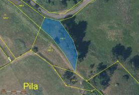 Prodej, pozemek, 802 m2, Pila
