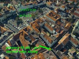 umístění nemovitosti v centru města (Pronájem, obchod a služby, 65 m2, Litoměřice, Město), foto 4/9