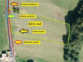 Prodej, stavební pozemek, 4211 m2, Hutisko - Solanec