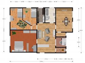 Půdorys 2D (Prodej, byt 4+1, 117 m2, Praha, ul. Musílkova), foto 4/26