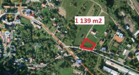 Prodej, pozemek, 1139 m2, Potštejn