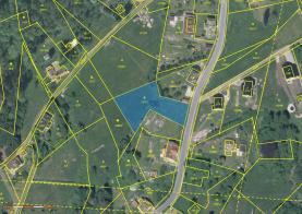 Prodej, stavební parcela 1801 m2, Lučany nad Nisou