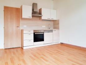 (Pronájem, byt 1+1,34 m2, Plzeň, Koterovská ul.)