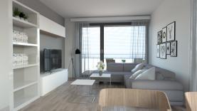 Obývací pokoj se vstupem na balkon (Prodej, byt 2+kk, 56 m2, OV, balkon, Liberec Františkov), foto 2/9