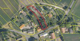 Prodej, stavební parcela, 1355 m2, Dubová Lhota