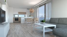 Obývací pokoj se vstupem na balkon (Prodej, byt 3+kk, 80 m2, OV, balkon, Liberec Františkov), foto 2/11