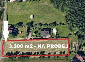 Prodej, pozemek, 3300 m2, Ostrava - Vratimov