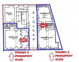 (Pronájem, obchodní prostory, 95 m2, Plzeň, ul. Prokopova), foto 2/7
