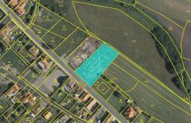 Prodej, stavební pozemek, 1858 m², Tišice - Chrást