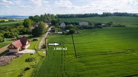 Prodej, pozemek, 1800 m2, Třebohostice