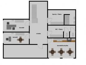 Pronájem, kancelářské prostory, 36 m2, Poděbrady-Choťánky