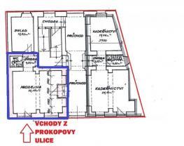 (Pronájem, obchodní prostory, 41 m2, Plzeň, ul. Prokopova), foto 2/4