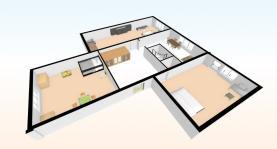 půdorys 3D (Prodej, byt 3+1, 69 m2, OV, Beroun, ul. Pod Homolkou), foto 4/37