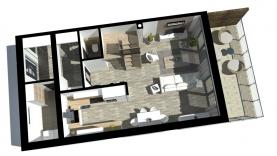 Půdorys prvního nadzemního patra (Prodej, novostavba 4+kk, 124 m2, Liberec, ul. Vřesová), foto 4/19