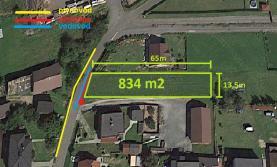 Prodej, stavební pozemek, 834 m2, Hlučín - Darkovičky