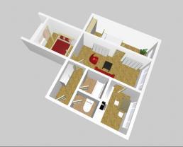 (Prodej, byt 3+1, 58 m2, DV, Chomutov, ul. Spořická), foto 3/13