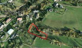 Pohled na pozemek (Prodej, louka, 1183 m2, Bílý Potok pod Smrkem)