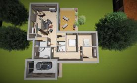 Prodej, rodinný dům, 4+1, 156 m2, Křenice, ul. K Potoku
