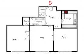 Pronájem, byt 3+1, 87 m2, OV, Praha 1, ul. Žitná