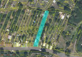 Mapka s umístěním (Prodej, zahrada, 424 m2, Kadaň, ul Třešňová)