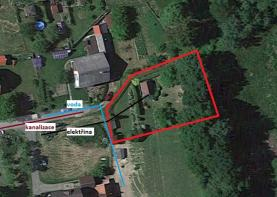 Prodej, stavební pozemek, 874 m2, Zubří
