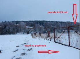 Prodej, stavební parcela, 4175 m2, Kaznějov