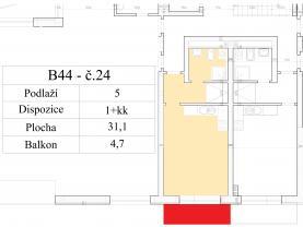 (Prodej, byt 1+kk, 36 m2, Rakovník)